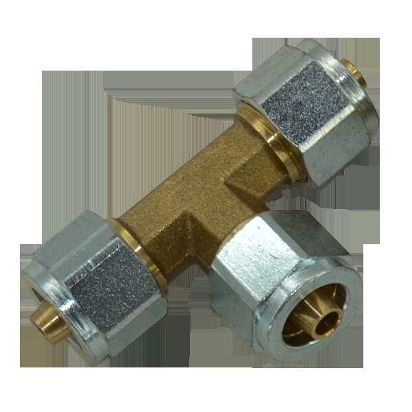 Трійник для пластикової трубки d8-8-8 в зборі