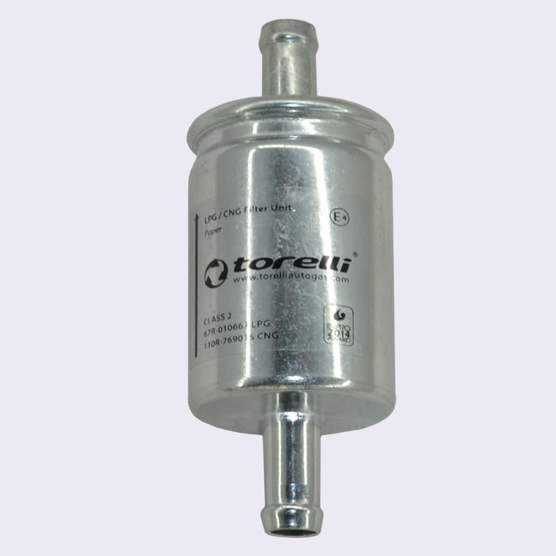 Фильтр тонкой очистки газа d12-d12 Torelli (№1) в алюминиевом корпусе