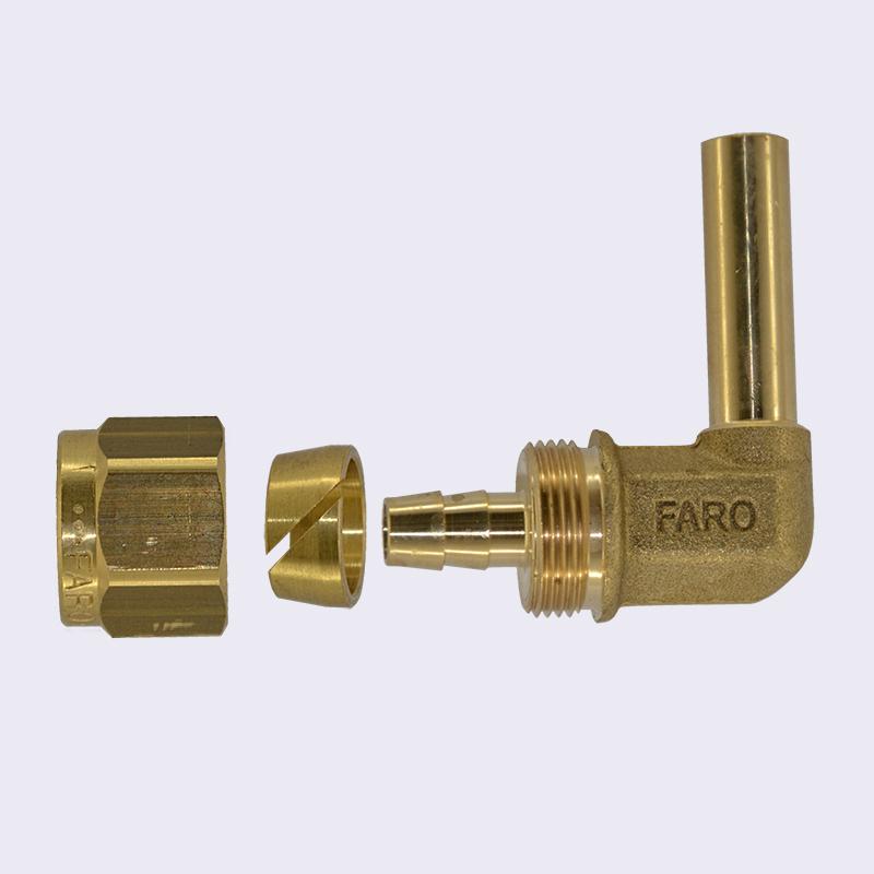 Фитинг 8-8 угловой для термопластиковой трубы