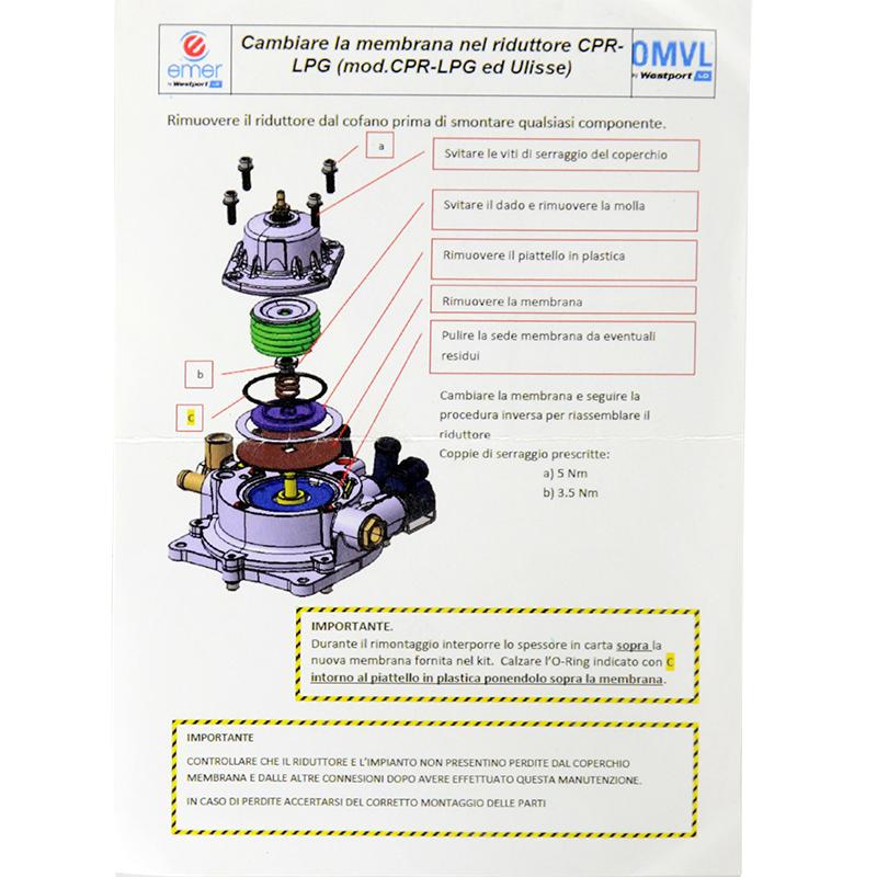 Ремкомплект редуктора OMVL CPR оригинальный